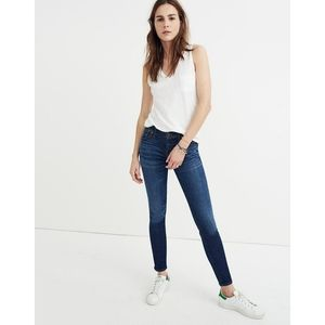 """Madewell 8"""" Skinny Jeans In Riverdale Wash"""